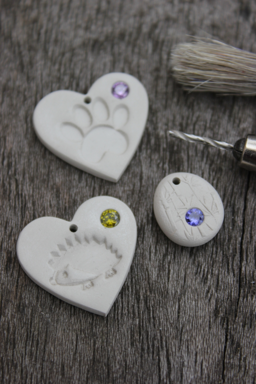 Making jewellery by Little Silver Hedgehog