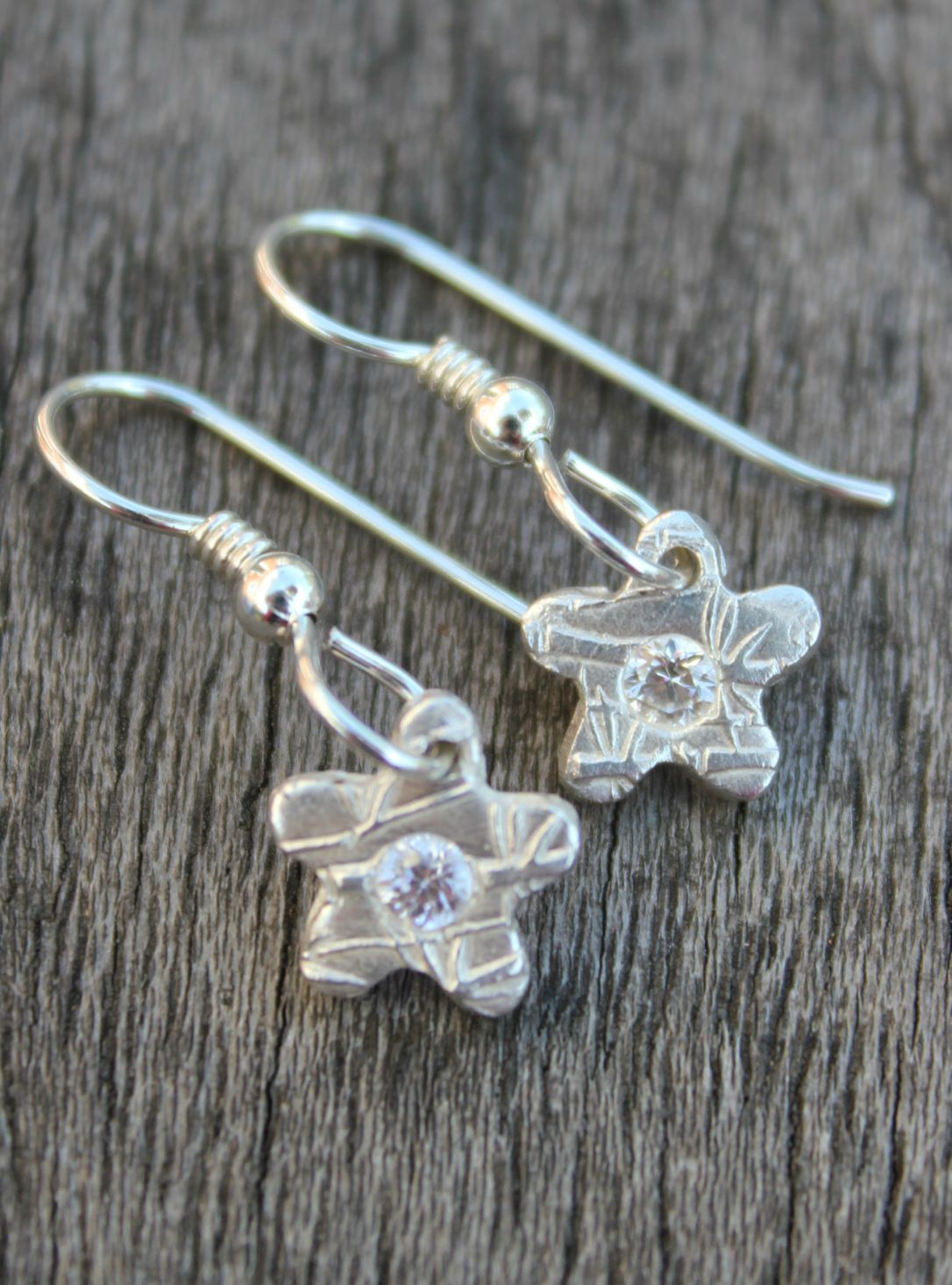 White topaz flower earrings by little silver hedgehog.JPG
