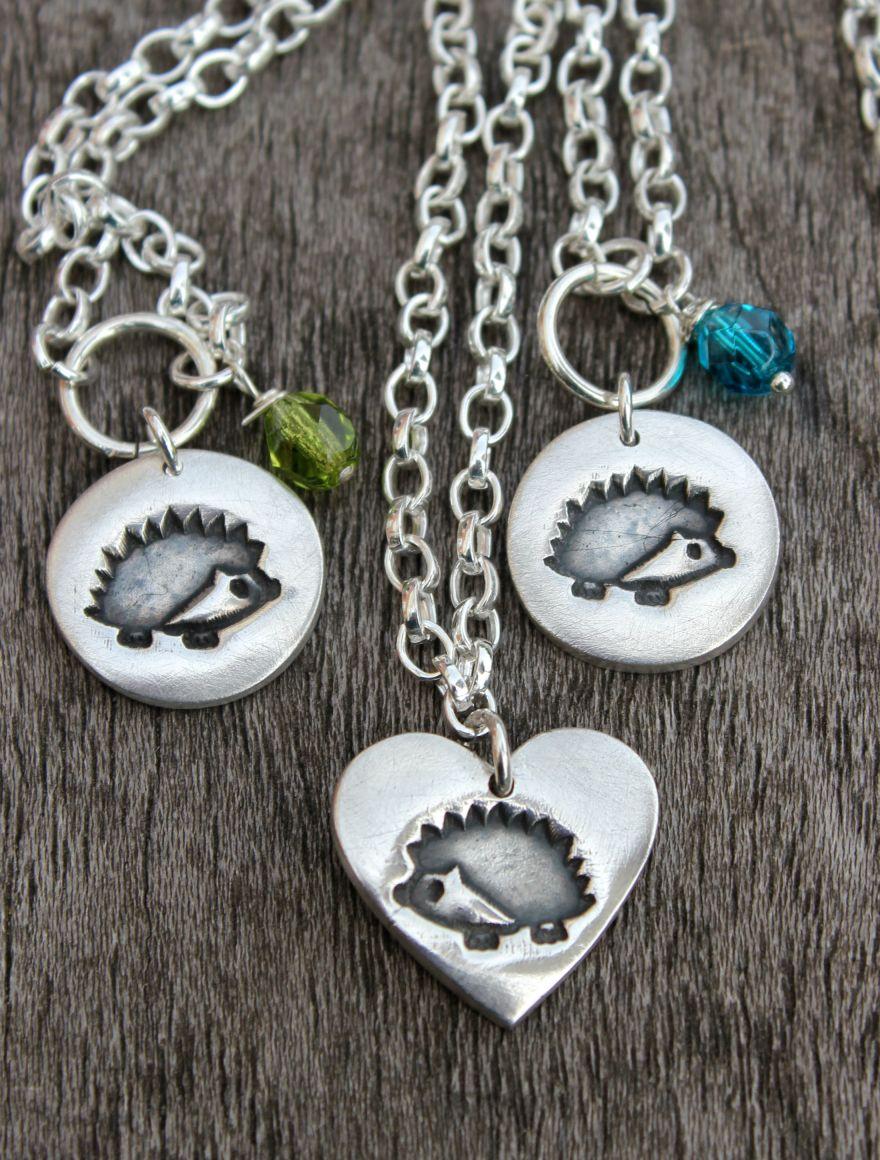 Silver hedgehog pendants silver hedgehog necklaces by little silver hedgehog