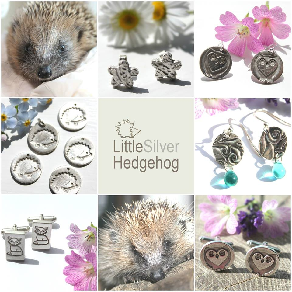 Handmade silver nature jewellery by little silver hedgehog