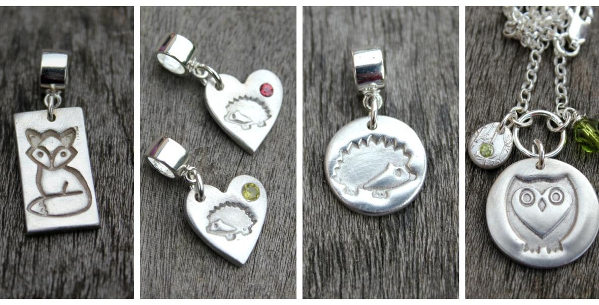 British wildlife jewellery by Little Silver Hedgehog
