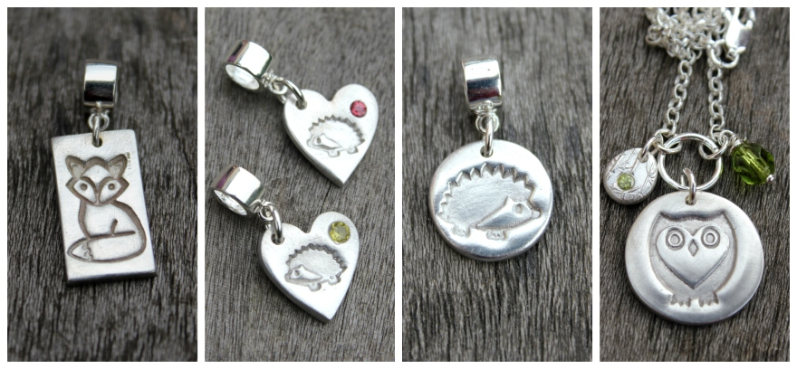 British wildlife jewellery by Little Silver Hedgehog