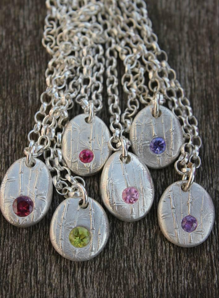 Solid silver gemstone pebbles by little silver hedgehog