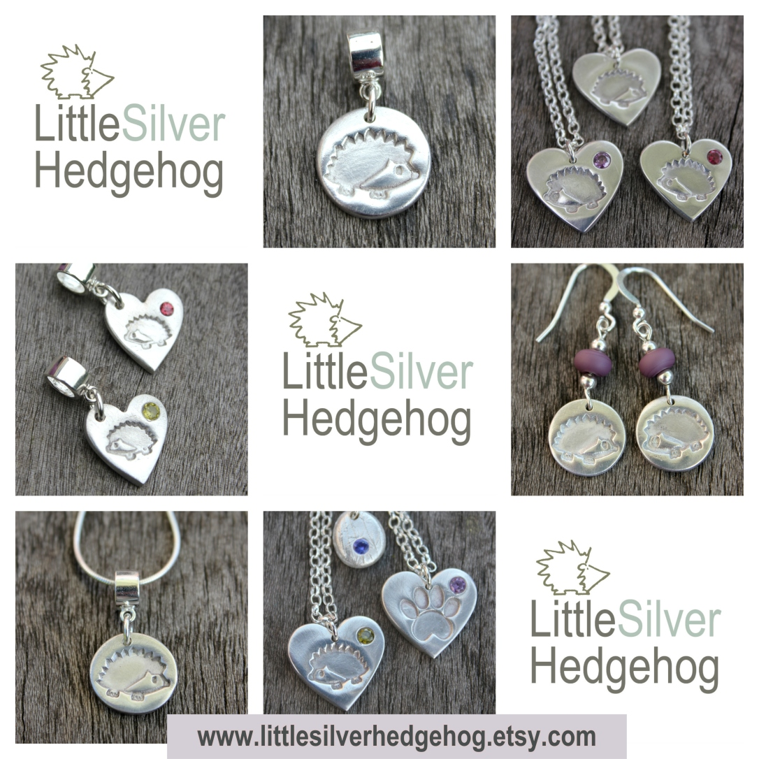 Hedgehog Jewellery by Little Silver Hedgehog.jpg