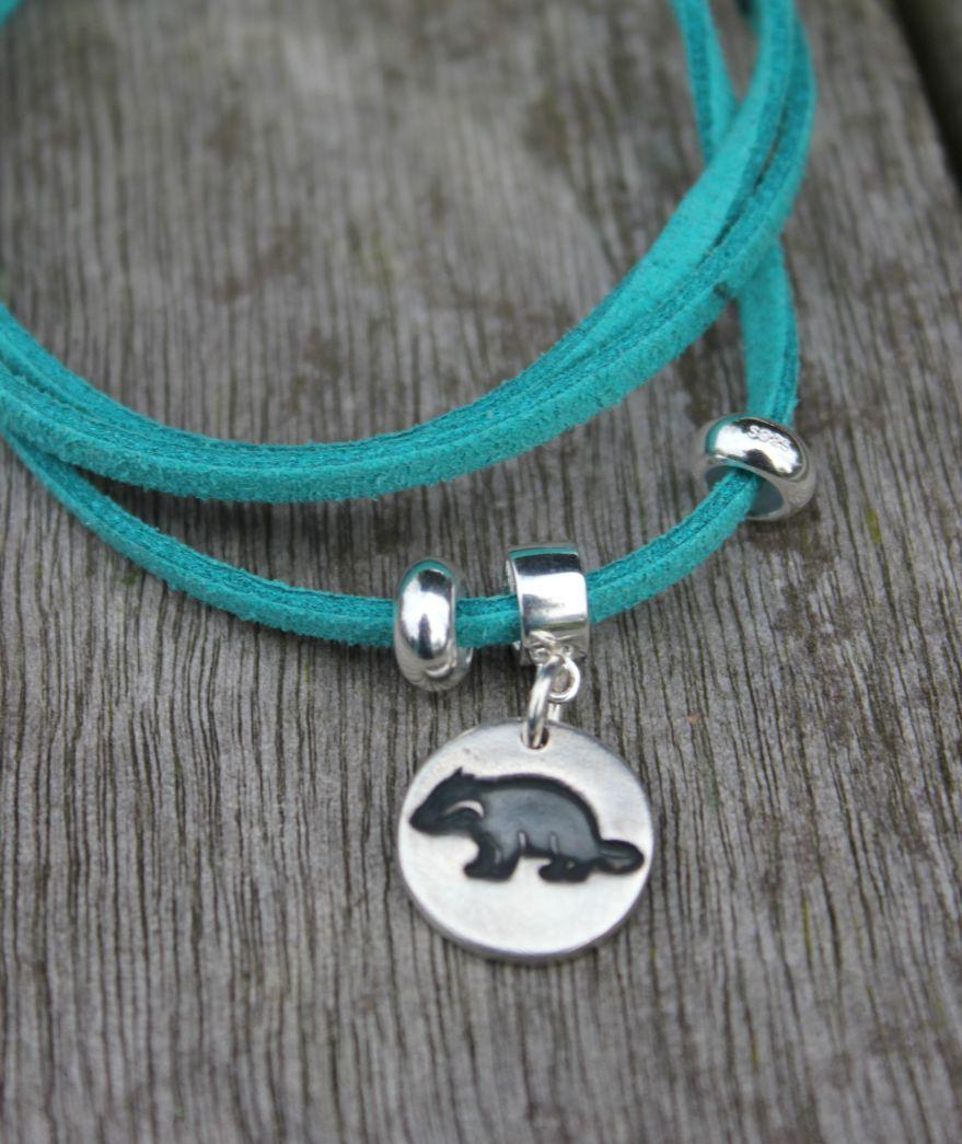 Badger charm bracelet
