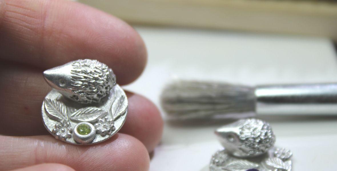 Silver miniature hedgehogs