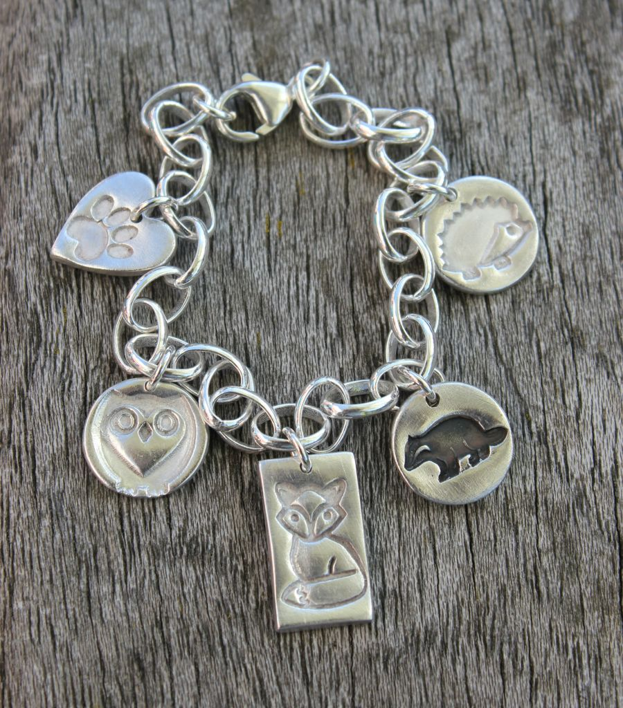 Wildlife charm bracelet featuring british wildlife charms