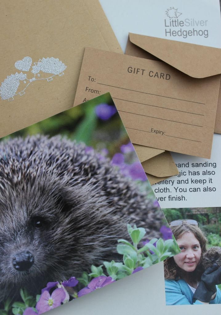 wildlife jewellery gift cards, gift vouchers