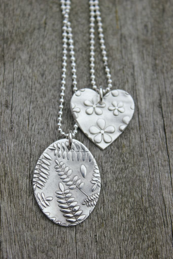Silver clay nature jewellery workshop in York